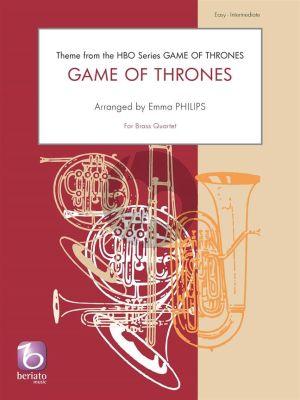 Djawadi Game of Thrones for Brass Quartet (Score/Parts) (arr. Emma Philips)