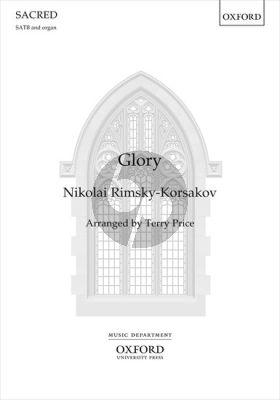 Rimsky-Korsakov Glory SATB and Brass Ensemble with Timpani and Organ (Vocal Score) (transcr. by Terry Price)