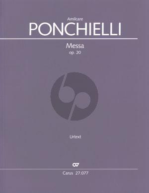 """Ponchielli Messa Op. 20 """"per la notte di natale"""" Soli-Chor und Orchester (Partitur)"""