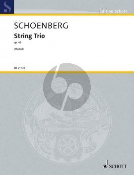 Schoenberg String Trio Op.45 (Score and Parts)