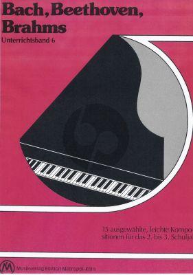 Album Bach, Beethoven, Bahms fur Klavier (15 ausgewählte, leichte Kompositionen für das 2. bis 3. Schuljahr)