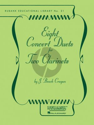 Beach Cragun 8 Concert Duets for 2 Clarinets