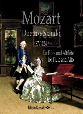 Mozart Duetto secondo KV 424 für Flöte und Altflöte (Part./Stimmen) (transcr. Barbara Hill)