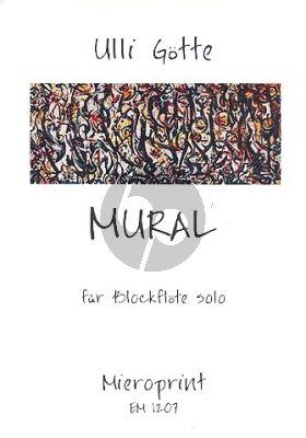 Gotte Mural Blockflote Solo (Alt, Tenor oder Bass)
