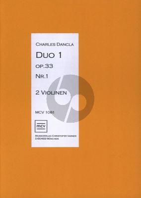 Dancla Duo op.33 no.1 für 2 Violinen