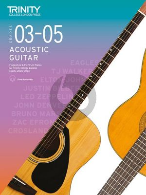 Trinity Acoustic Guitar Exam Pieces 2020-2023 Grades 3 - 5