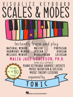 Roberson Visualize Keyboard Scales & Modes (Instantly Learn and Play, Designed for all Musicians)