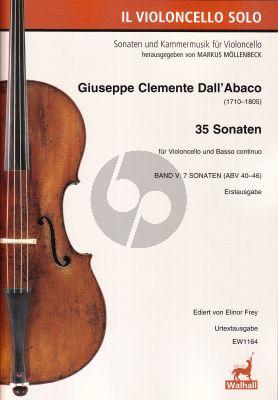 Dall'Abaco 35 Sonaten Band 5 (7 Sonaten ABV 40 - 46) Violoncello und Bc (herausgegeben von Elinor Frey)