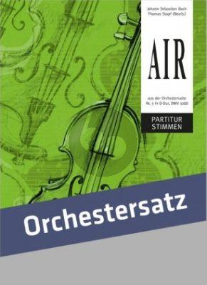 Bach Air aus der Orchestersuite No. 3 in D-Dur, BWV 1068 Partitur und Stimmen
