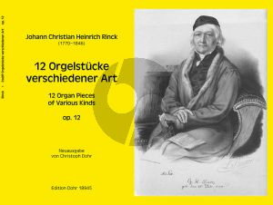 Rinck 12 Orgelstücke verschiedener Art Op. 12 (Christoph Dohr)