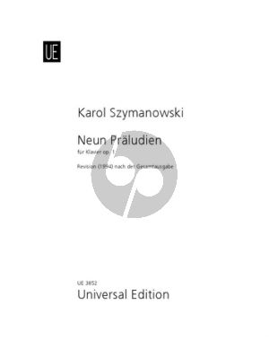 Szymanowski 9 Preludes Op.1 Klavier