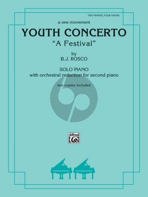 Rosco Youth Concerto 'A Festival' for 2 Piano's 4 Hands (2 Copies Included) (Level: Intermediate)