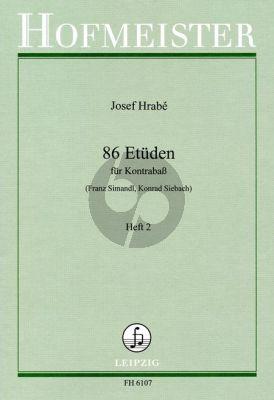 Hrabe 86 Etuden Vol.2 Kontrabass (Franz Simandl und Konrad Siebach)