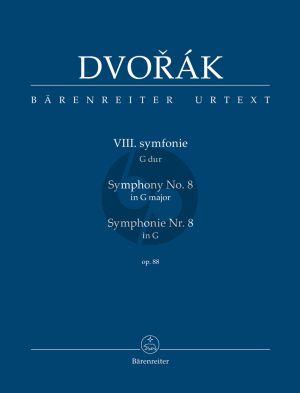 Dvorak Symphony no. 8 in G major op. 88 Study Score (Jonathan Del Mar)