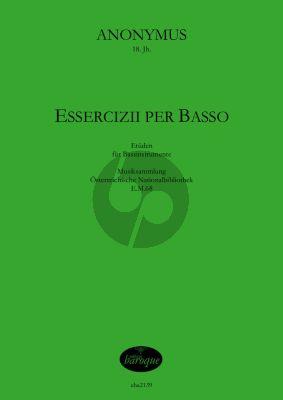 Anonymus Essercizii per basso für 1-2 Bassinstrumente (Spielpartitur)