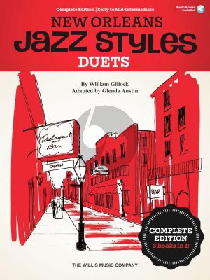 Gillock New Orleans Jazz Styles Duets - Complete Edition (Book with Audio online) (edited by Glenda Austin)