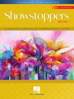 Linn Showstoppers Book 1 Piano solo (10 original easy intermediate-level piano solos in progressive order)
