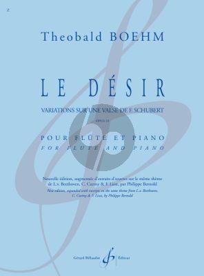 Boehm Le Desir Flute and Piano (Variations sur une Valse de Franz Schubert Op. 21)