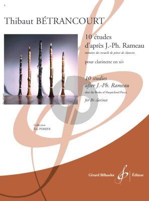 Betrancourt 10 études d'après Jean-Philippe Rameau for Clarinet