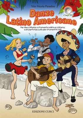 Paradiso Danze Latino Americane (Book with CD) (for 2 guitars, or solo instrument and guitar) (and parts for instruments in C or B flat)