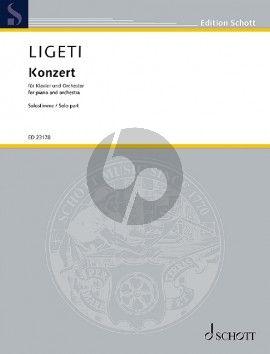 Ligeti Concerto (1985 - 88) Piano and Orchestra (piano reduction)