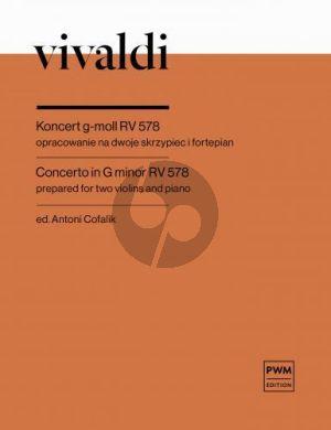 Vivaldi Concerto g-moll RV 578 for 2 Violins and Piano