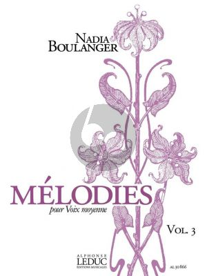 Boulanger Melodies Vol. 3 Voix Moyenne