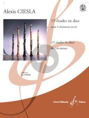 Ciesla 15 Etudes en Duo 2 Clarinettes