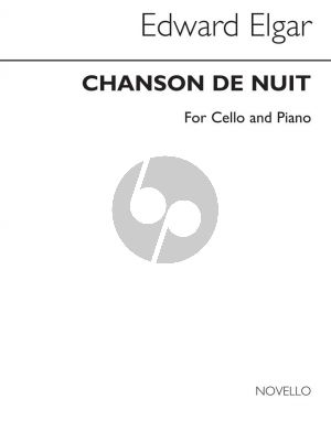 Elgar Chanson de Nuit Op. 15 No. 1 Cello and Piano