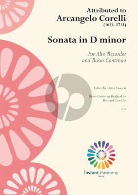 corelli Sonata D minor for Alto Recorder and Basso Continuo