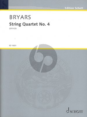 Bryars String Quartet No.4 (Score and Parts) (2019-20)
