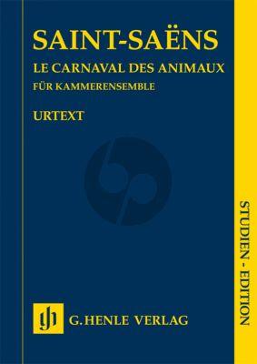 Saint Saens Carnaval des Animaux fur Kammerensemble Studien Partitur (Herausgegeben von Ernst-Günter Heinemann) (Henle-Urtext)