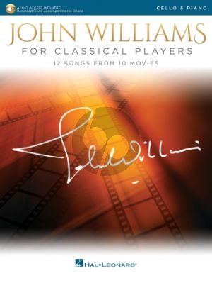 Williams John Williams for Classical Players for Cello and Piano Book with Audio Online