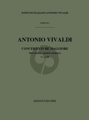 Vivaldi Concerto D Major Op.35 No.19 RV 212A (PV 165 / F.I 136) Violin and Orchestra Studyscore (fatto per la Solennita della Lingua di San Antonio)