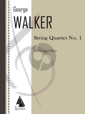 Walker String Quartet No.1 (2 Vi-Va-Vc) Score and Parts (Includes the beautiful Lyric for Strings in its original setting)
