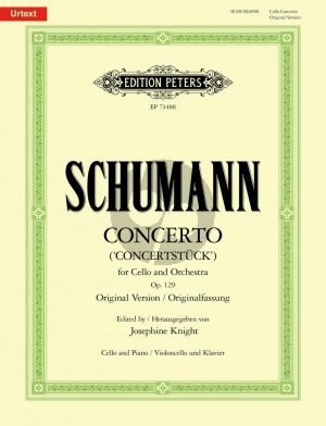Schumann Concerto a-minor Op. 129 for Cello and Orchestra (piano reduction) (edited by Josephine Knight)