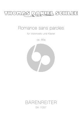 Schlee Romance sans paroles Op. 66a für Violoncello und Klavier