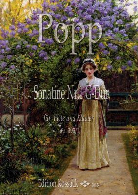 Popp Popp Sonatine G-dur Op. 395 No. 1 Flöte und Klavier