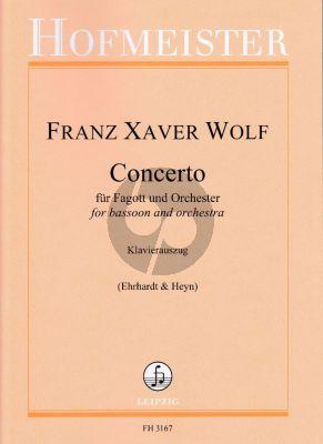 Wolf Concerto für Fagott und Orchester (Klavierauszug) (Susanne Ehrhardt und Walter Thomas Heyn)