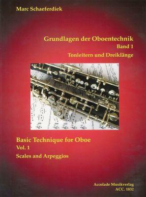 Schaeferdiek Grundlagen der Oboentechnik Band 1 - Tonleitern und Dreiklänge