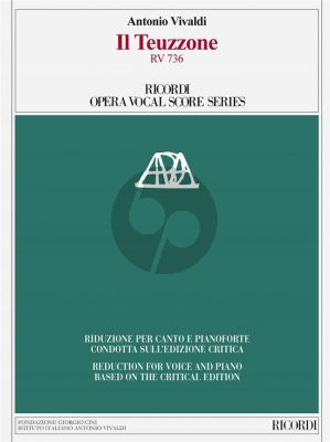 Vivaldi Il Teuzzone RV 736 Vocal Score (It./engl.) (edited by A. Borin)