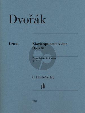 Dvorak Quintet in A major Op. 81 Piano-2 Violins-Viola and Cello (Score/Parts) (Dominik Rahmer)