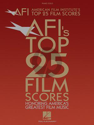 American Film Institute's Top 25 Film Scores (Piano-Vocal-Guitar)
