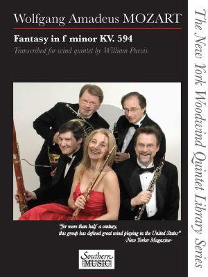 Mozart Fantasy in F-Minor KV 594 for Woodwind Quintet (Score/Parts) (arr. William Purvis)