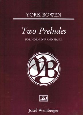 Bowen 2 Preludes for Horn and Piano