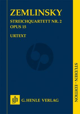 Zemlinsky Quartet No.2 Op.15 2 Violins-Viola and Violoncello (Study Score) (edited by Dominik Rahmer)