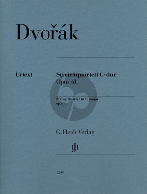 Dvorak String Quartet C-major Op.61 Parts (edited by Peter Jost)