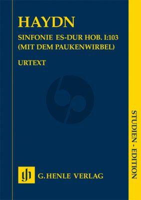 Haydn Symphony E-flat major Hob. I:103 (Drumroll) (London Symphony) Study Score (edited by Hubert Unverricht)