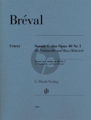 Breval Sonate C-dur op. 40 Nr. 1 für Violoncello und Bass (Klavier) (herausgegeben von Tabea Umbreit)