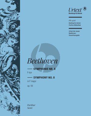 Beethoven Symphonie No. 8 F-dur Op. 93 Orchester (Partitur) (Ernst Herttrich)